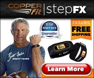 Copper Fit Step FX Track Your Steps Wireless Fitness Tracker