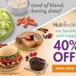 Nutrisystem 40% Off