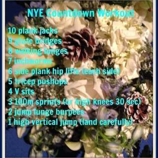 New Years Eve Countdown Workout