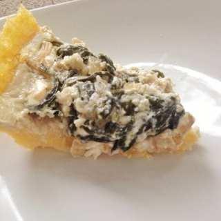 Recipe Redux: Cheesy Greens Pie with Polenta Crust