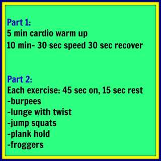 Tabata 2 Part Cardio Workout