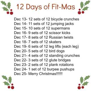 12 Days of Fit-Mas Challenge