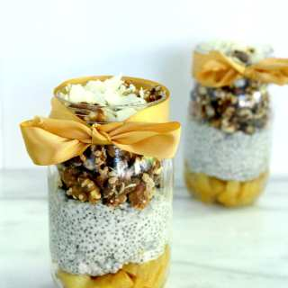 Chia Walnut Pineapple Parfait