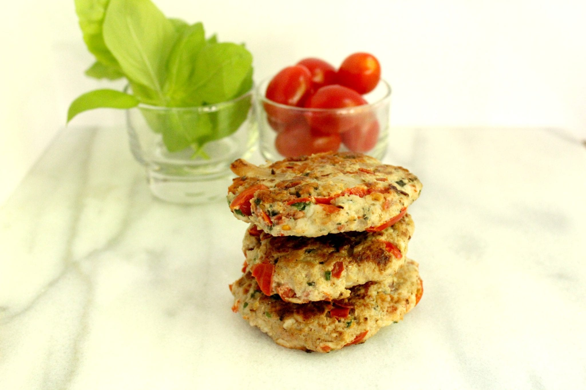 Caprese Turkey Burger Stack
