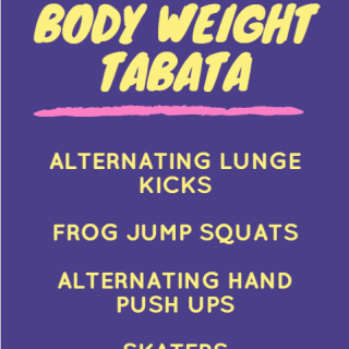 No Equipment Body Weight Tabata