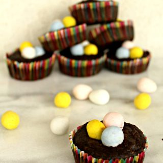 Easter Egg Flourless Brownie Bites