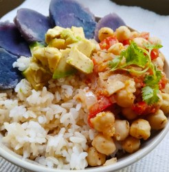 Vegan, plant-based, 15 minute meal recipe, egg-free, nut-free, dairy-free, gluten-free, fast easy meals, vegetarian, quick dinner recipe, crazy versatile chickpeas