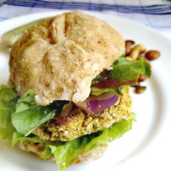 Vegan, vegetarian, plant-based, egg-free, dairy-free, soy-free, gluten-free, nut-free, asian, asian-inspired Crowd Pleasing Curry Chickpea Burger Patty recipe, meal prep recipe, whole food plant based recipe
