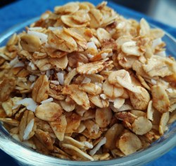 Easy vegan, vegetarian, plant-based, egg-free, dairy-free, nut-free, gluten-free homemade granola recipe