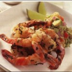 Basil Prawns with Avocado Mash