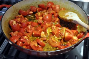 Tomato and Ginger Oven Chicken Curry