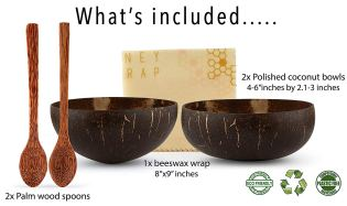 Sustainable Coconut Bowls and Beeswax Wrap