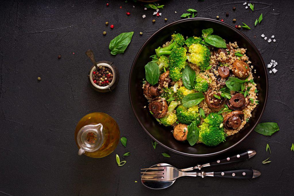 Healthy vegan salad of vegetables