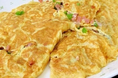 Bell Pepper Ham Cheesy Omelet (Atkins Diet Phase 1 Recipe)