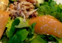Grapefruit Crab Mixed Greens Salad Recipe