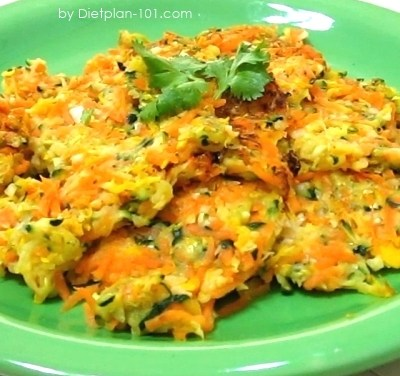 Zucchini Carrot Patties (Cabbage Soup Diet Recipe)