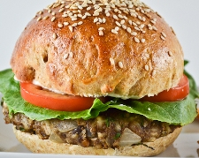 Asian Turkey Burger with Sesame Mayonnaise (South Beach Phase 2 Recipe)