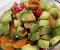 Haas Avocado Cucumber Salad with Cumin Dressing (Atkins Diet Phase 2 Recipe)