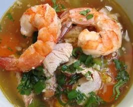 Chicken Shrimp Mixed Veggies Soup (Dukan Diet PV Cruise Recipe)