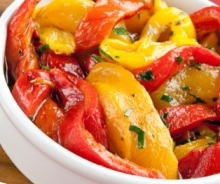 Low-Calorie Mixed Grilled Pepper with Balsamic Vinaigrette Recipe