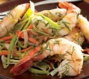 Pan Seared Shrimp With Carrot Amp Leek Dukan Diet Pv Cruise