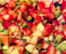 Spicy Grapefruit Melon Strawberry Salsa Recipe