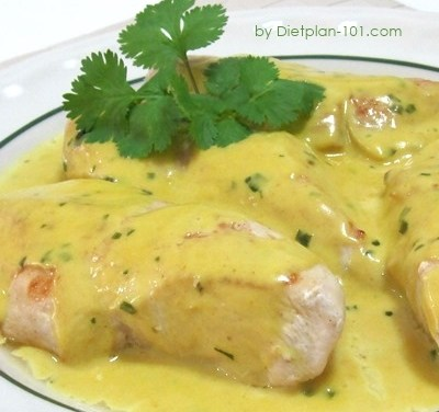 Chicken Breast with Tarragon-Mustard Cream Sauce (South Beach Phase 1 Recipe)