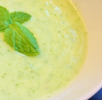 Chilled Cucumber Honeydew Yogurt Soup with Mint (South Beach Phase 2 Recipe)
