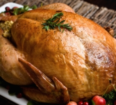 Roasted Whole Turkey with Low-Fat Bread Sauce (Dukan Diet PP Consolidation Recipe)