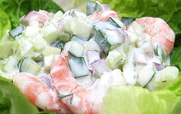 Cucumber Celery Shrimp Chopped Salad (Dukan Diet PV Cruise Recipe)