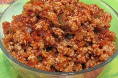 Onion Tomato Sauce Minced Pork (Atkins Diet Phase 1 Recipe)
