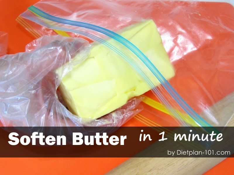 How to soften butter in 1 minute