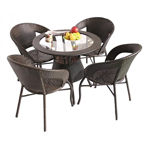 unique360 wix out door golden four seater garden patio set 1 4 4 chairs and table with glass set