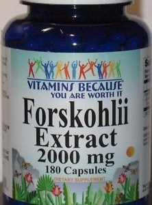 Coieus Forskohlii Extract Forskolin 2000mg 180 Capsules Max Strength, Diet Pill