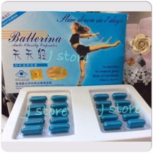 1 Ballerina Slimming Pills Weight Loss Capsules Diet Anti Obesity Authentic