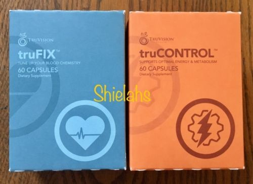 WEIGHT LOSS Truvision 30 DAY truFIX truCONTROL 120 Capsules 1 MONTH 4 Week #DIET