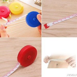 "1PC Mini Tape Measure Retractable Ruler Tool Sewing Cloth Tailor Dieting 1.5m 60"" G03 Drop ship"