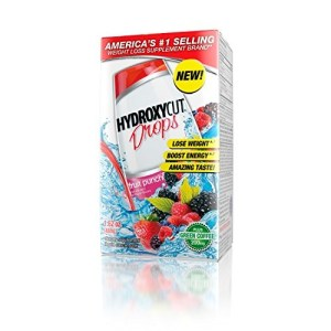 Hydroxycut Great Tasting Weight Loss Drops, Weight Loss Supplement, Fruit Punch, 1.62 Ounce