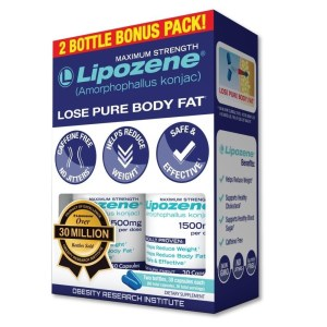 Lipozene Diet Pills - Maximum Strength Fat Loss Formula - 1500mg , 60 Capsules..