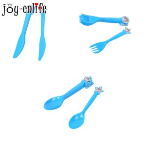 JOY-ENLIFE 6pcs Unicorn knife / fork / spoon plastic children's birthday party baby shower cake cartoon Discount diet cutlery