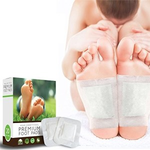 Foot Pads - 20 Premium Body Cleansing Foot Pads - Rapid Pain & Stress Relief - New Advanced Formula - Remove Impurities - Improve Sleep - 100% Organic Ingredients - FDA Certified