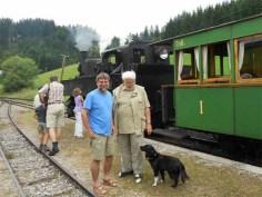 mit dem Ötscherland Express unterwegs
