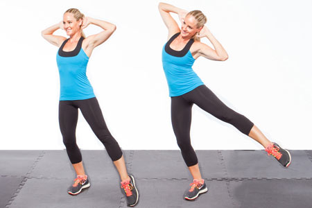 Move 2: Standing Side Crunch