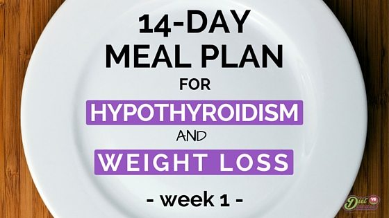 14 day meal plan for hypothyroidism and weight loss