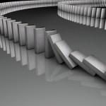 Kettingreactie domino eerste stap veranderen