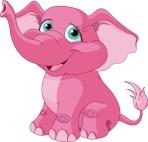roze olifant NIET