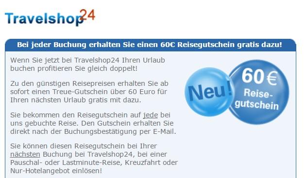 Travelshop24 Gutschein
