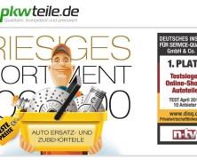 Du suchst günstige Ersatzteile für Dein Auto? Pkwteile.de