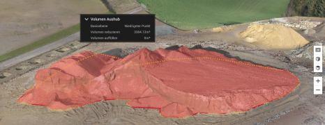 Volumenberechnung mit Drohne