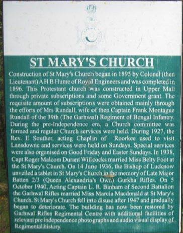 St March Church historical Board